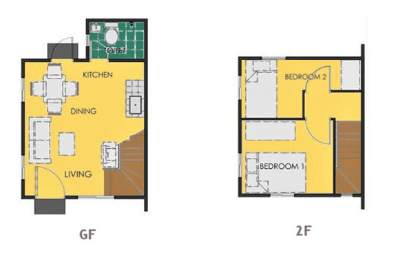 Ravena Floor Plan House and Lot in Calbayog