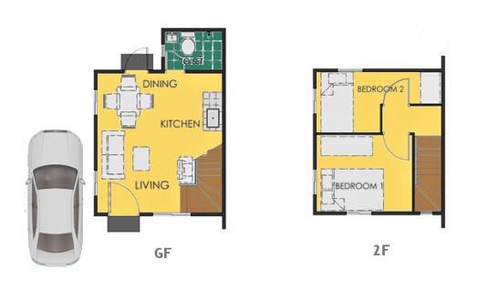 Reva Floor Plan House and Lot in Calbayog