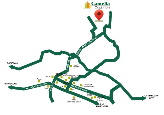 Camella Calbayog Location and Amenities