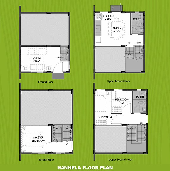 Hannela Floor Plan House and Lot in Calbayog