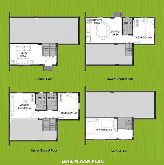 Janna Floor Plan House and Lot in Calbayog