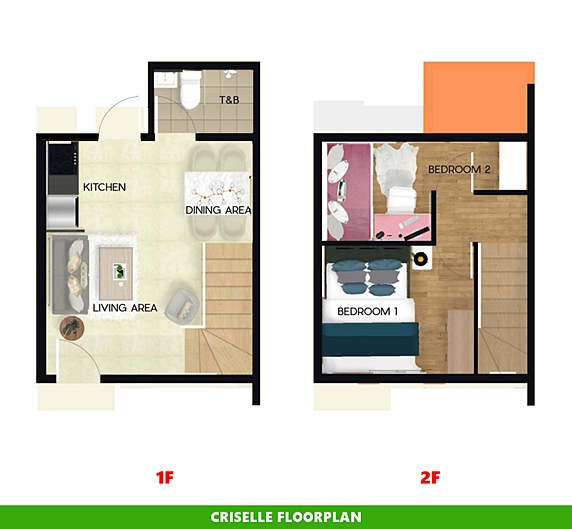 Criselle Floor Plan House and Lot in Calbayog