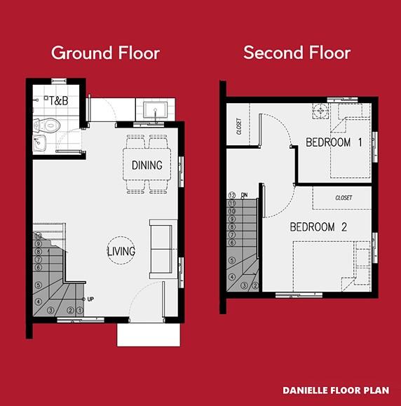 Danielle Floor Plan House and Lot in Calbayog