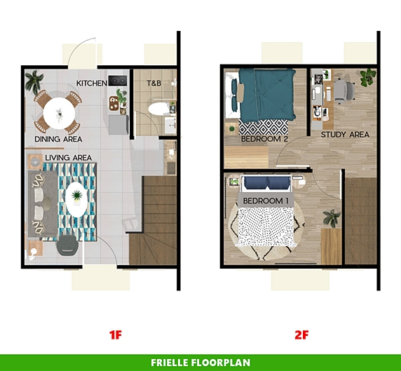 Frielle Floor Plan House and Lot in Calbayog